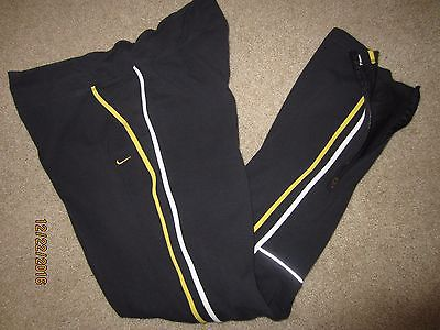 NIKE Dri-Fit BLACK Yellow LIVESTRONG Spandex RUNNING Sweat-Pants Womens Medium
