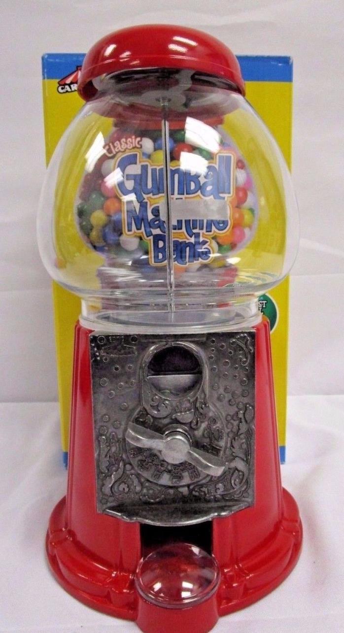 Classic Gumball Machine Bank 11Tall Diecast Metal Glass Globe