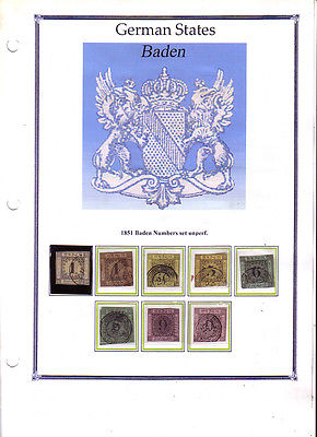 Lot Collection stamps of Old German States.very high value 119 images in binder