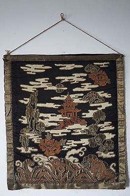 ANTIQUE CHINESE SILK EMBROIDERY A+