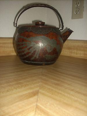 ANTIQUE JAPANESE ASIAN HAMMERED COPPER TEA KETTLE TEAPOT JAPAN