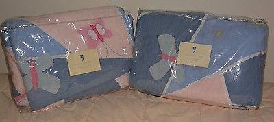 POTTERY BARN KIDS SOPHIE BUTTERFLY Twin QUILT SET BED