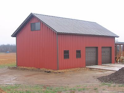Steel Garage Workshop/Building Kit 24'x36'x12' Excel Metal Building Systems Inc