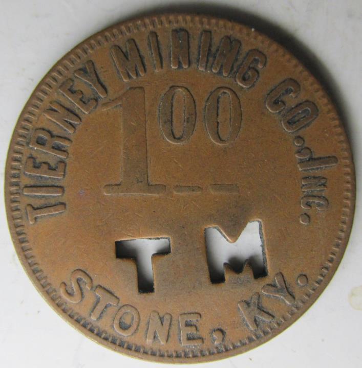 Kentucky, Stone TIERNEY MINING CO  $1 Coal Scrip token