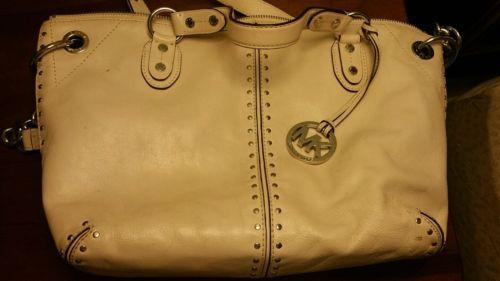 White michael kors purse
