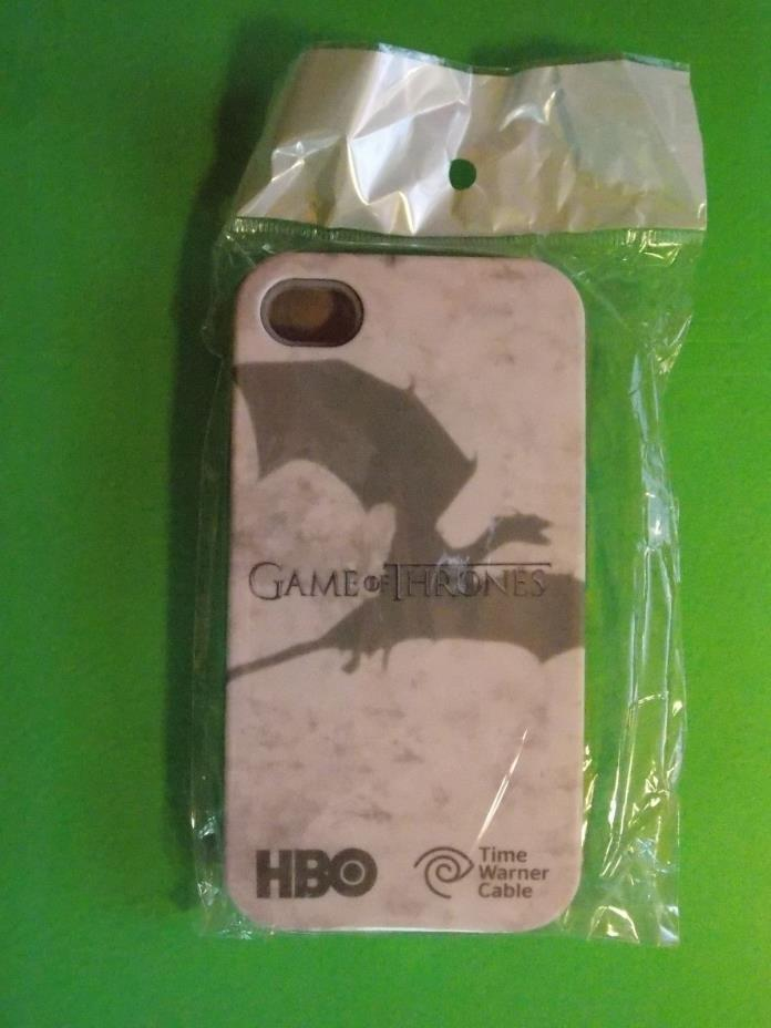 BRAND NEW APPLE IPHONE 4G HBO GAME OF THRONES CELL PHONE CASE DRAGON SHADOW GRAY