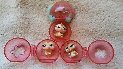 Littlest Pet Shop Hamsters 1477, 1478, 1479 Petriplets with Carrier