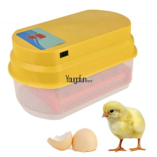 Incubator 15 Egg Capacity Automatic Digital Chicken Duck Bird Egg Turning Hatch