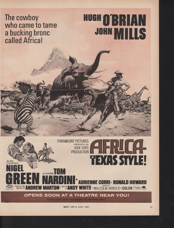 1967 AFRICA TEXAS STYLE OBRIAN MILLS CORRI STAMPEDE AD12610