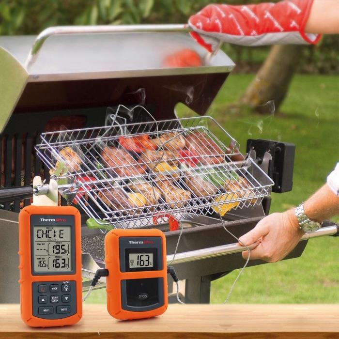 Wireless Cooking Thermometer Meat BBQ Remote Digital Oven Grill Probe Smoker LCD