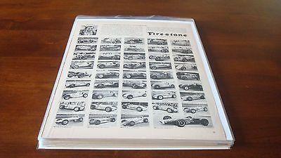 LOT OF (17) VINTAGE CAR ADS 1950-1970. Fiat-Mercury-Cadillac-ford-Volks-Chevy VG