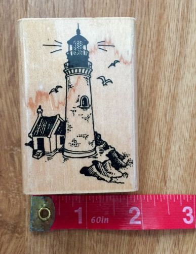 Stampendous 1989 Lighthouse Wood Rubber Stamp Craft Stampin