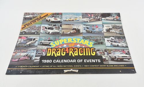 NHRA Hot Rod Drag Racing 1980 Vintage Calendar Don Garlits Don Prudhomme