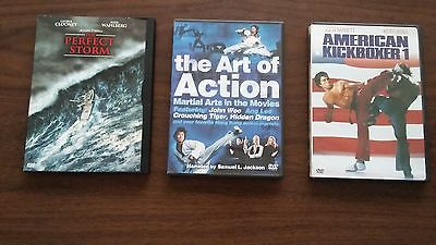 2  MA   ACTION , KICK BOXER   AND  PERFECT  STORM  DVD,S