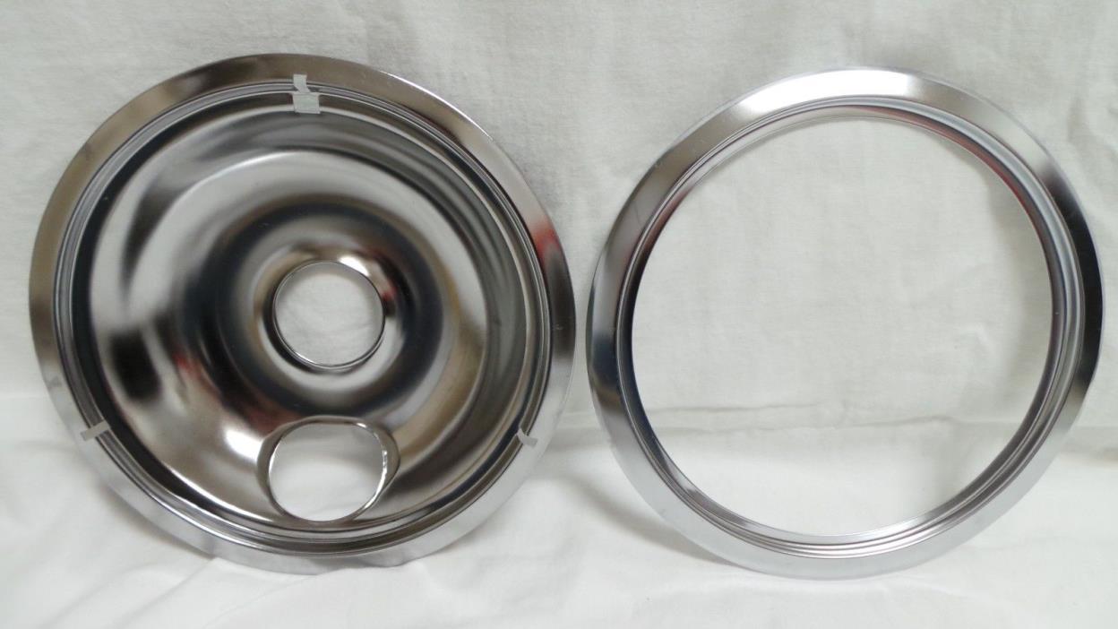 Stove top burner tray bowl drip pan cover & ring