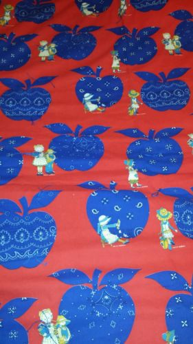 Vintage Hollie Hobbie Fabric Handmade Blanket 60x80