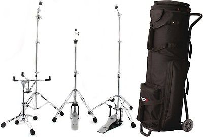 Gibraltar 5700-PK Double Braced Hardware Pack + Gator GP-DRUMC... - Value Bundle