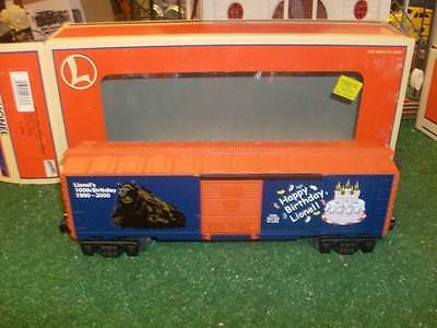 LIONEL TRAINS 26736 LIGHTED LIONEL BIRTHDAY BOX CAR - VERY NICE