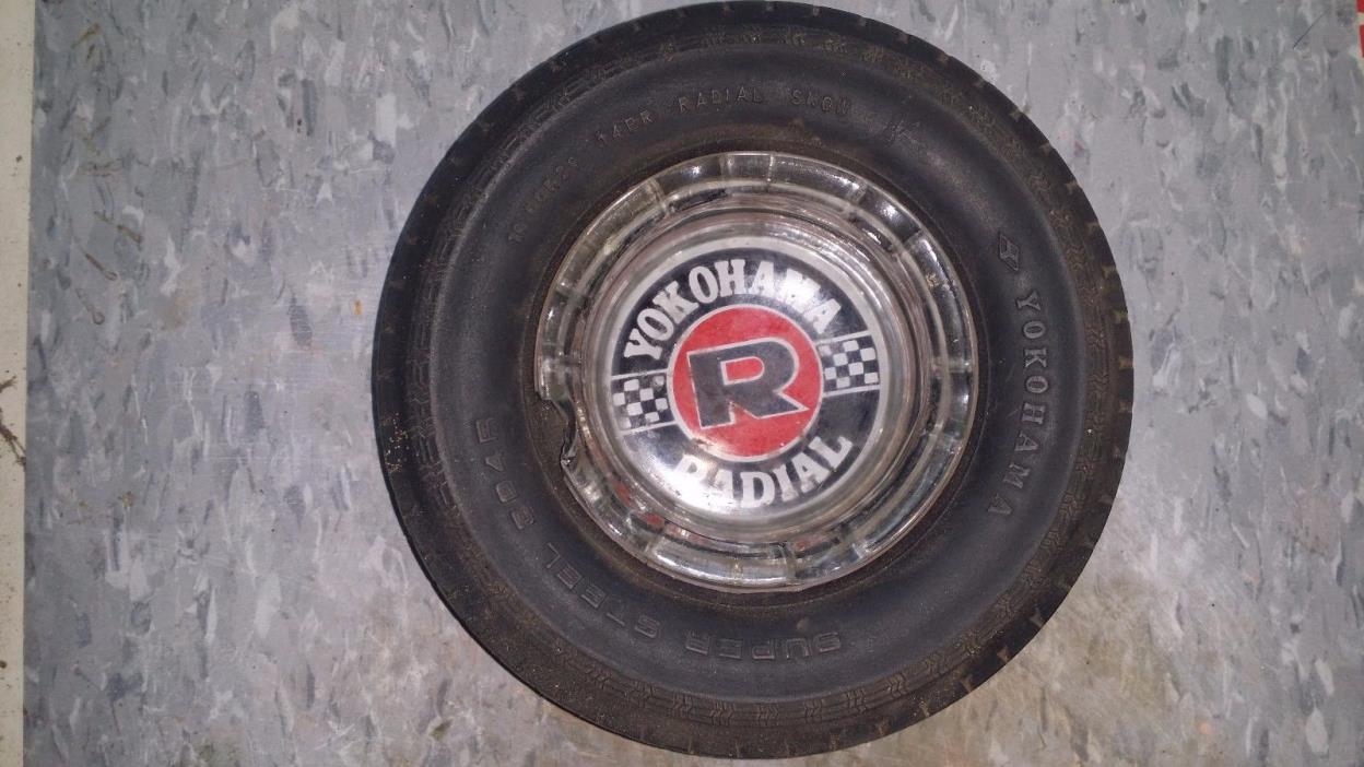 Vintage Yokohama Super Steel Radial tire ash tray