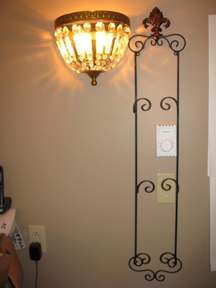 Plate Rack, Wall Mount, Display Rack, Plate Holder, 3 plate, Black & Bronz, Nice