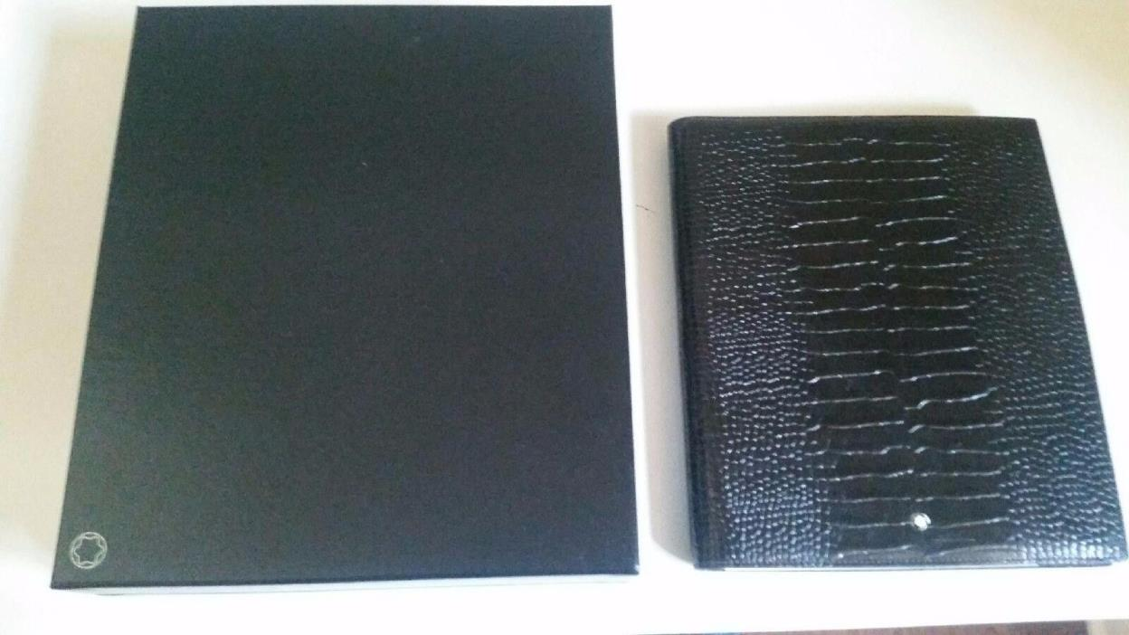 Montblanc Black Leather Portfolio/Notebook, New With Box