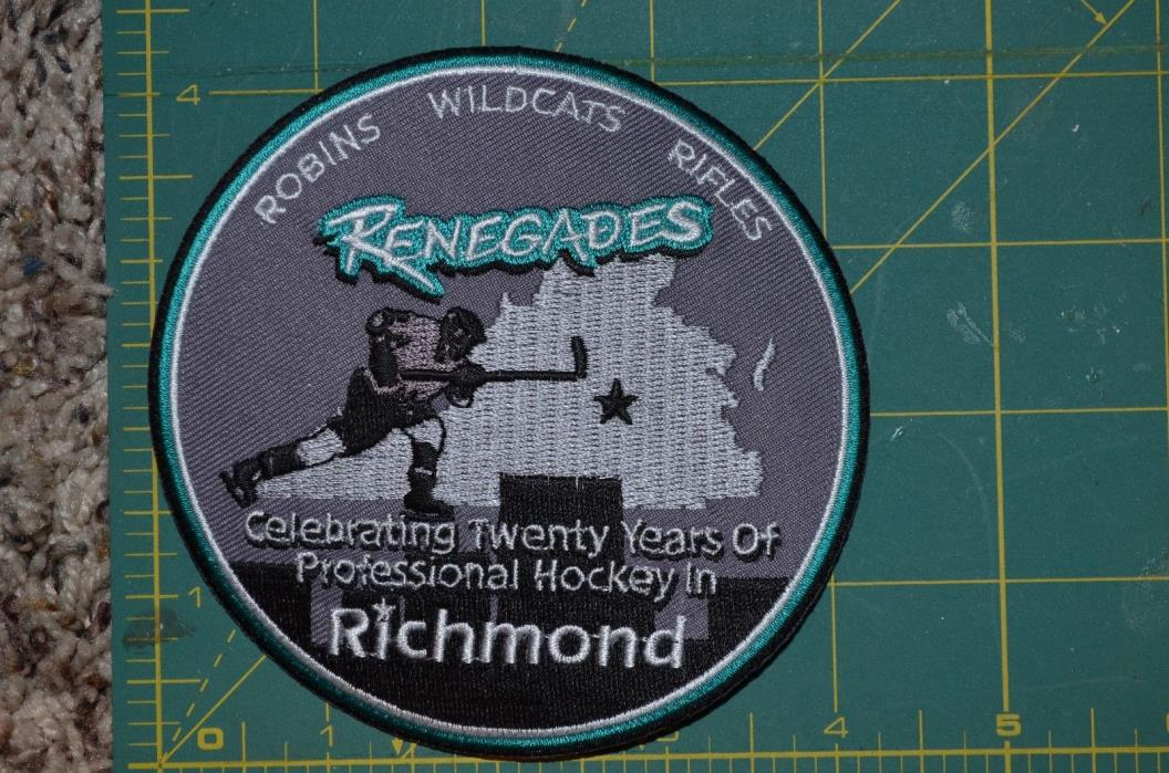 Richmond Renegades 20th Anniversary Vintage Minor Hockey Jersey Crest 4