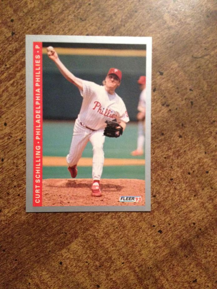 1993 Fleer #108 Curt Schilling, Phillies