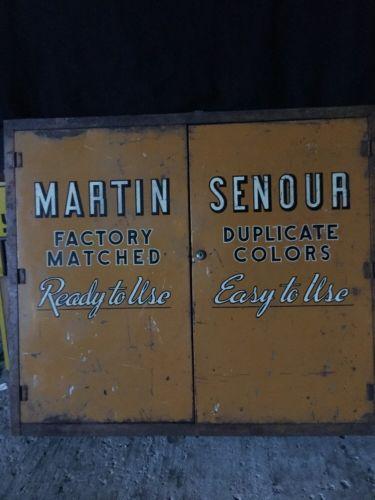 Vintage Martin Senour Metal Storage Cabinet