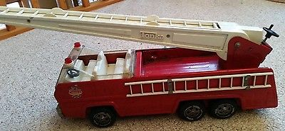 Vintage 1970's Tonka Fire Truck Ladder Truck Pressed Steel