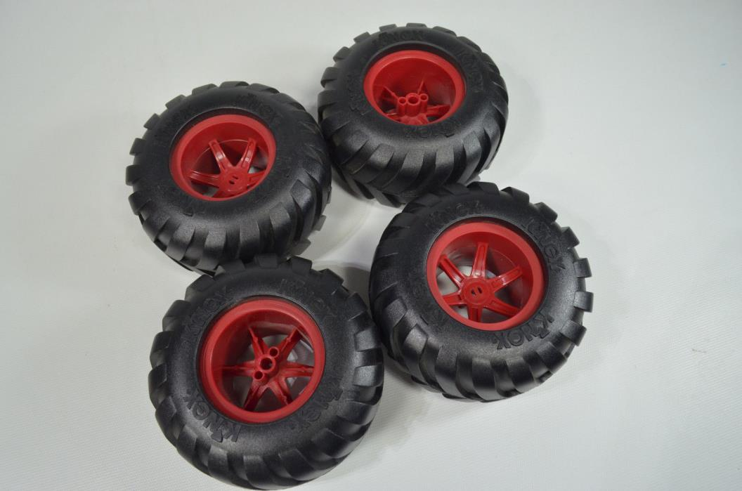 4 Large K'nex Building 4 1/2 inch Truck Tires Mudding