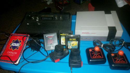 NINTENDO CLASSIC GAME CONSOLE-NES and ATARI 3 games 4 controls