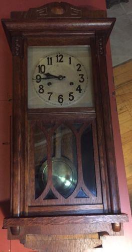 Antique Hamburg German Wall Clock