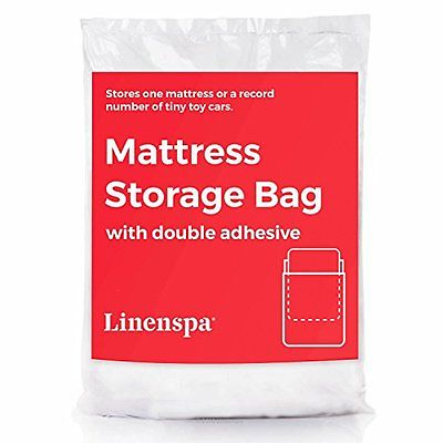 LINENSPA Mattress Storage Bag with Double Adhesive Closure - Fits Queen, Full a