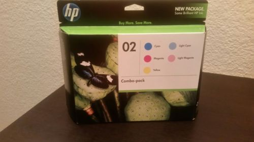 Genuine HP 02 Ink Combo Pack - EXPIRED: AUG 2011