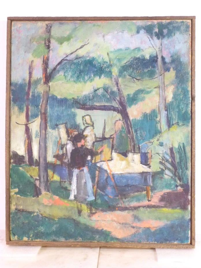 MARY BUTLER Early PENNSYLVANIA MODERNIST OIL PAINTING PAFA, PLASTIC CLUB c.1915