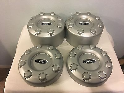 Ford F350 F450 Dually Center Cap Set of 4 Wheel 8 Lug Covers Super Duty 2X4 OEM