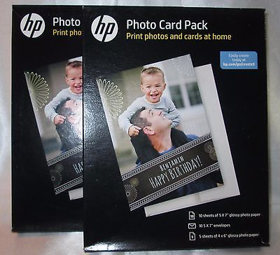 TWO HP PHOTO CARD PACKS