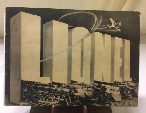 1938 Vintage Lionel Train Catalog Black/White edition