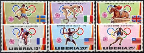 Liberia 1972 SG#1106-1111 Olympic Games MNH Set #D39635