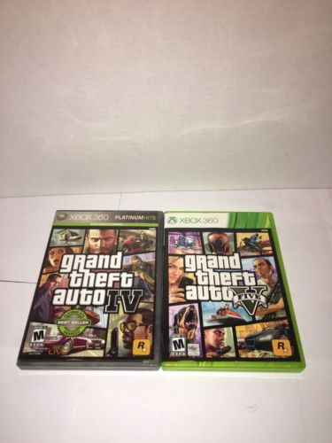 Grand Theft Auto IV 4 & V 5 XBOX 360 GAME LOT
