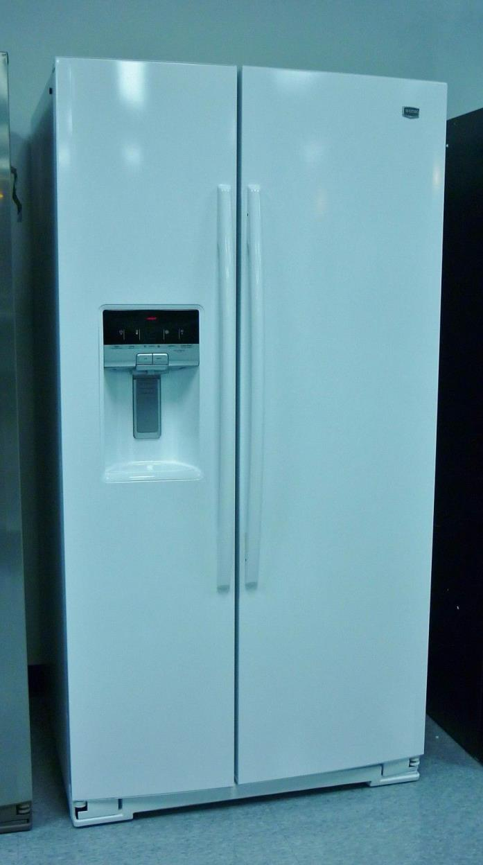 Maytag 26 cu. ft. White Energy Star Rated Side-by-Side Refrigerator - MSB27C2XAW