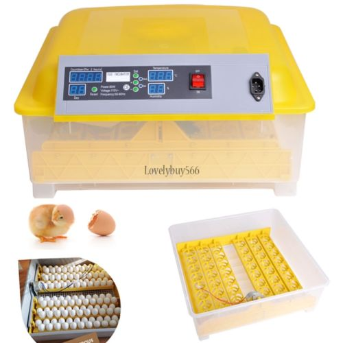 Digital Fully Auto Egg Incubator Turner 48Eggs Poultry Chicken Duck Bird Hatcher