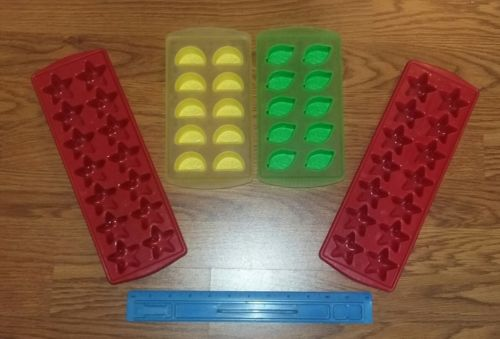 Lot of 4 Ice Cube Shape Trays Jello Chocolate Candy