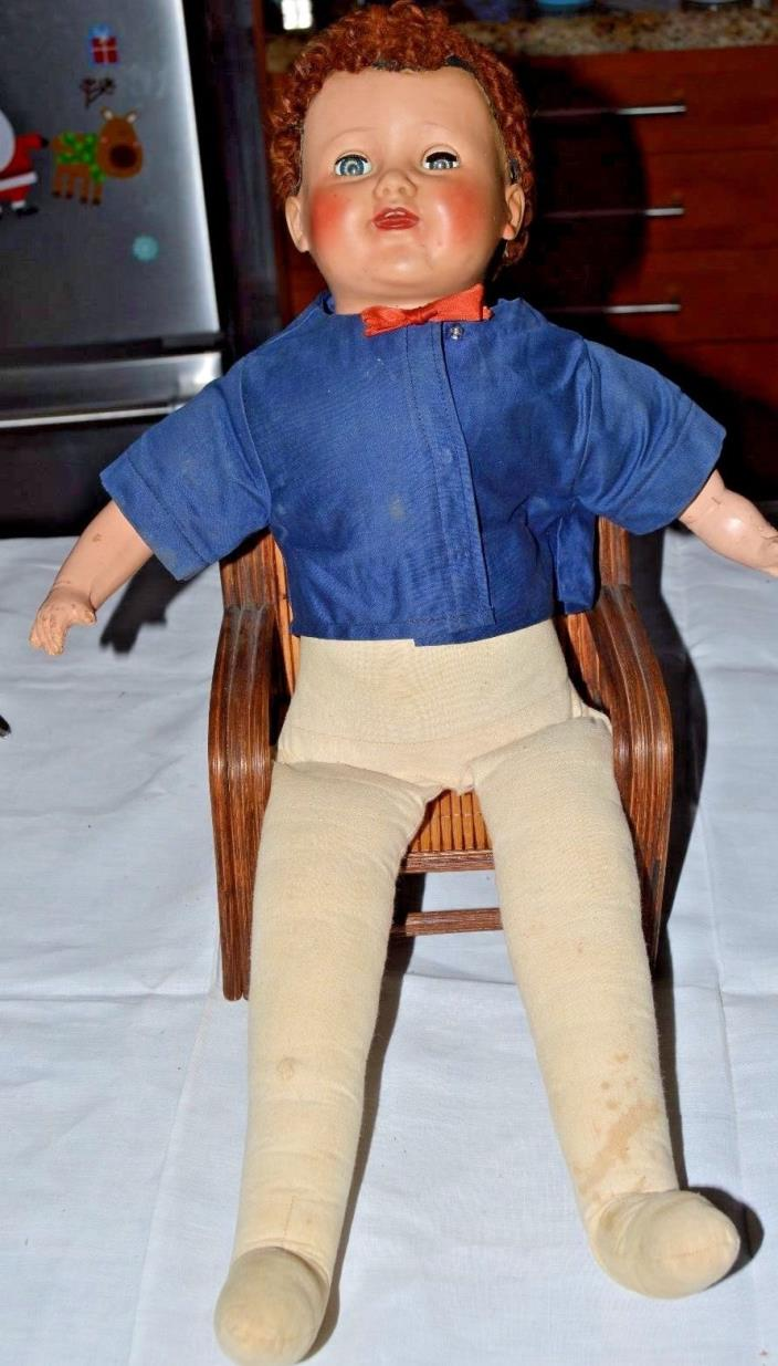 Vintage American Character Boy Doll 21