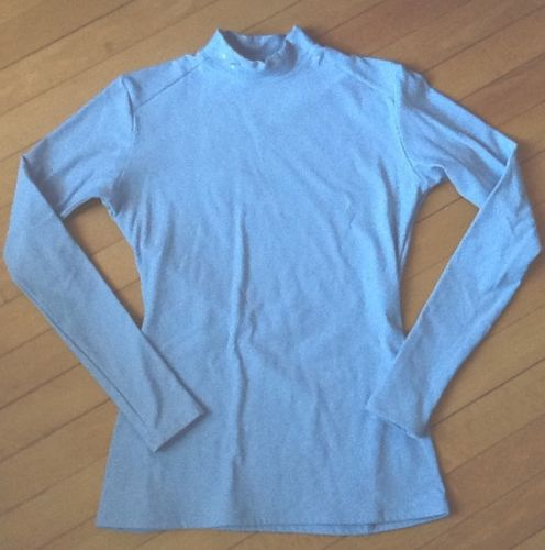 UNDER ARMOUR Mock Neck Compression Shirt Women Large Blue