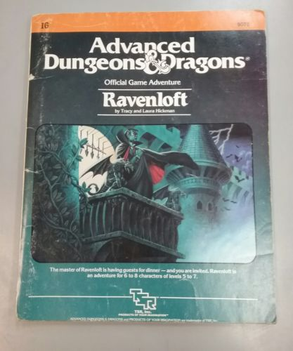 Advanced Dungeons and Dragons Ravenloft Adventure Book