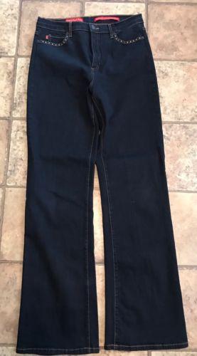 NYDJ  Women's Dark Blue Tummy Tuck Jeans  Size  12   EUC