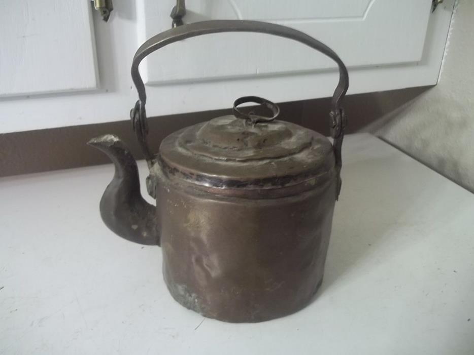 Vintage ANTIQUE COPPER TEA COFFEE KETTLE POT ESTATE FIND