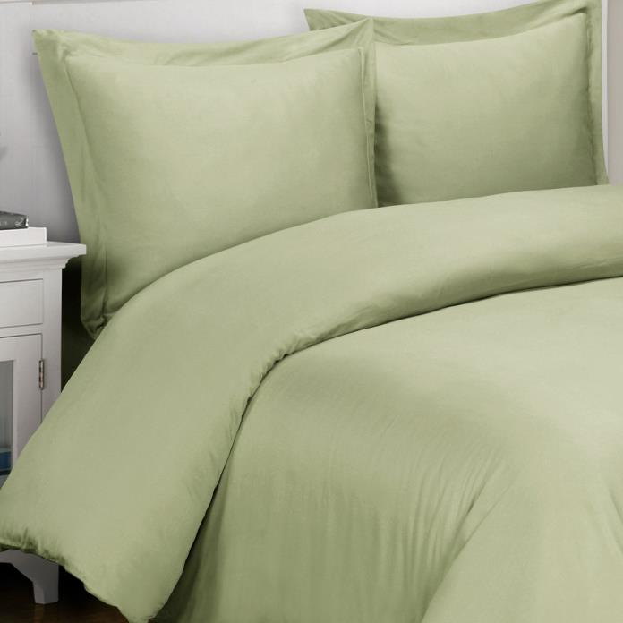 1000 Thread Count TC 100% Egyptian Cotton King Cal King Duvet Cover Set Green