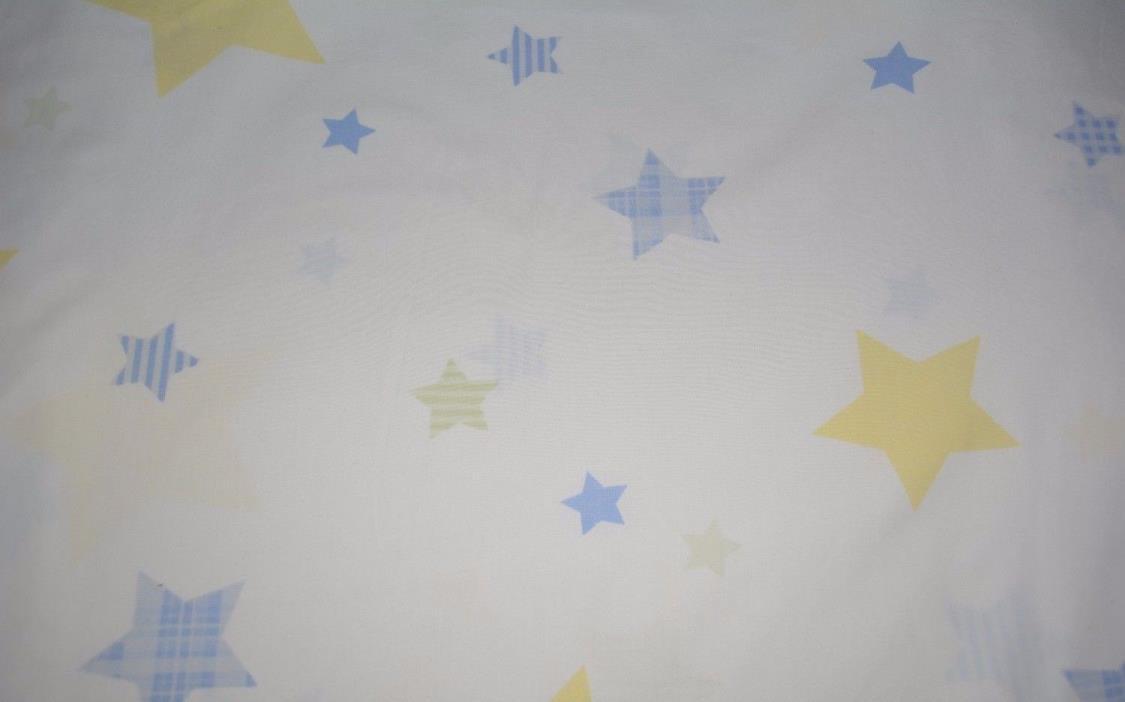 POTTERY BARN KIDS MOON STARS BLUE YELLOW crib sheet